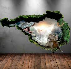 >20 3d wall art designs decor ideas design trends premium psd  dinosaur wall decal wall stickers