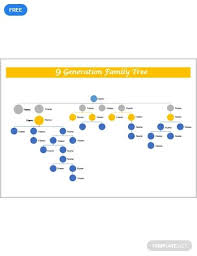 9 Generation Family Tree Template Free 9 Generation Family Tree Diy And Crafts Pinterest