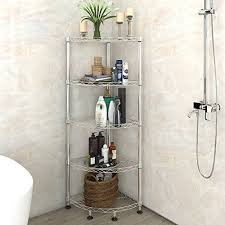 lifewit 5 tiers adjule wire corner shelving unit metal storage shelves for