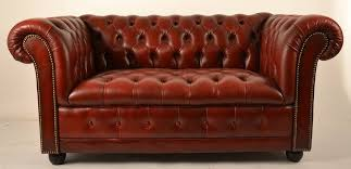 american burdy leather chesterfield loveseat for