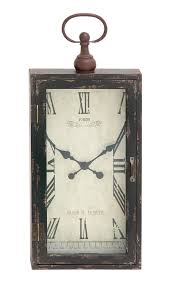 contemporary and modern chic styled wood metal wall clock home