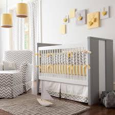 baby nursery gray and yellow zig zag crib bedding bold chevron