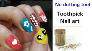 Easy nail art with toothpick / beginners nail art using toothpick ...