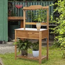 outsunny wooden spacious garden potting