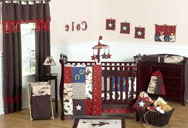 decoration cow print crib bedding red paisley cowboy western baby