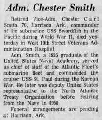 Adm Chester Smith Death - Newspapers.com