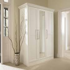 Cooper 3 Door Wardrobe with Mirror in White