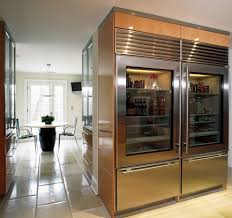Glass Door Refrigerator for Home Kitchen Industrial with Glass Front  Refrigerator Glossy