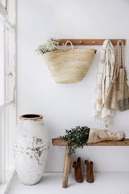 Oak Coat Rack With Baskets Timber coat hook rail in oak 100 pegs Coat pegs String bag and 24