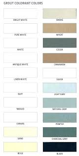 Lowes Grout Chart Tec Grout