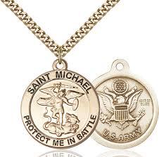 14kt gold filled saint michael pendant