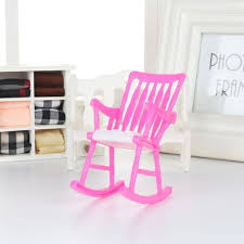 mini doll furniture. Mini Plastic Miniature Doll Furniture Rocking Chair Model Toy Gift For Dollhouse 0 H