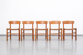 model j39 oak dining chairs by børge mogensen for fredericia set of 5
