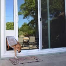 image of sliding glass dog door screen