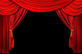 drawn curtain stage background 1