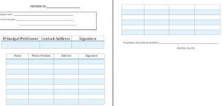 Template For Petition Free Printable Petition Template Legal Petition Forms Doc Sample