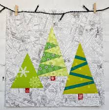 14 Christmas Tree Quilt Patterns | FaveQuilts.com & Paper Pieced Christmas Trees Adamdwight.com