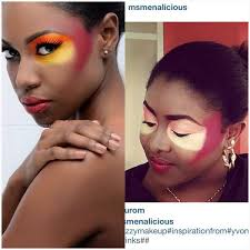 beautiful makeup art turns into rac slash panda art this would look great on the