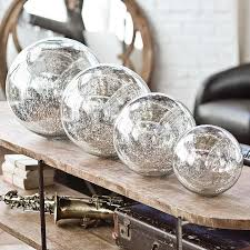 regina andrew design blown mercury glass sphere