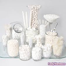 white candy buffets