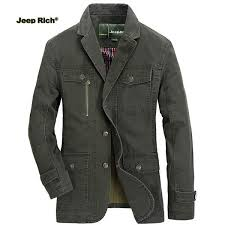 Jeep Rich® <b>Mens</b> Outdoor <b>Jacket Turndown</b> Collar Solid Color ...