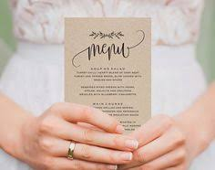 10 Best Wedding Menu Template Images Invitations Candy Boxes