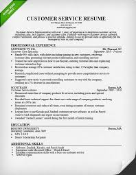 Customer Service Resume Templates Cool Customer Service Representative Resume Sample Resume Skills For