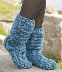 Free Crochet Slipper Patterns Simple Free Knitted Crochet Slipper Boots Patterns