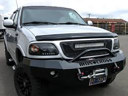 2001 Ford F150 Led Light Bar Royalty Core Rcrx Race Line Grille W Top Mounted 23 In Led
