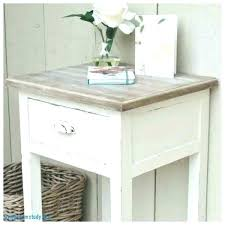 distressed white end tables off sofa round table dinin