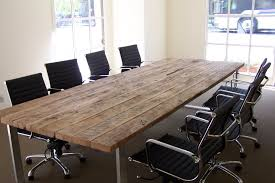 office dining table. Black\u0027s Farmwood Custom Built This Reclaimed Wood Table For Palo Alto, CA Cloud Computing Company. The Antique Oak Conference Has A Fabricated Office Dining O