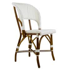 home furniture chairs white mediterranean bistro wrap back chair v