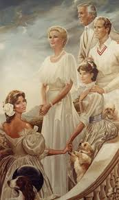 ralph wolfe cowan 39 s portrait of princess grace and her family which