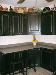 kitchens with black distressed cabinets. Image Of: Distressed Black Kitchen Cabinets Kitchens With T