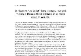in romeo and juliet there is anger love and violence discuss  document image preview