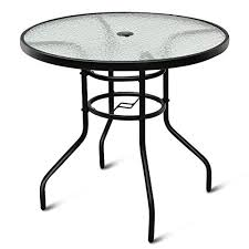 tangkula 32 outdoor patio table round