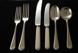 a silver plated flatware set of st james mould silverware