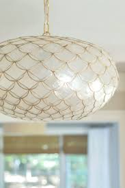 serena and lily gold capiz chandelier