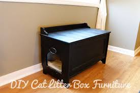 Decorative Cat Litter Box Enclosure DIY Cat Litter Box Furniture Litter box Toy boxes and Cat 2