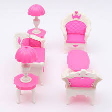 pink dolls house furniture. Pink Dollhouse Furniture Living Room Parlour Sofa Set For Barbie Accessories In Dolls \u0026 Bears, House E