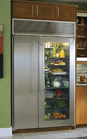 wow do i want this amazing glass doored fridge no need to open fridge with glass