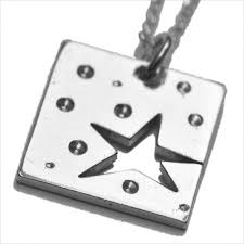 small square necklace sterling silver