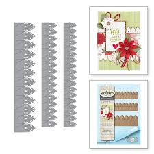Paper With Flower Border Shapeabilities Lilly Pearl Flat Fold Flower Border Etched Dies Chantilly Paper Lace Collection By Becca Feeken