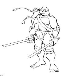 Teenage Mutant Ninja Turtles Coloring Pages Leonardo Coloring Home