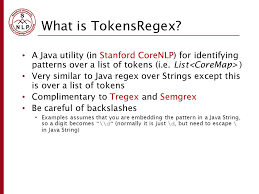Regex Pattern Stunning An Introduction To TokensRegex Ppt Video Online Download