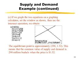 25 supply and demand example continued c if we graph the two