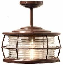 Copper Outdoor Light Fixtures Upc 053392038137 Harbor 1 Light Copper Outdoor Hanging