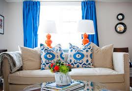 excellent decoration blue and orange living room decor cobalt