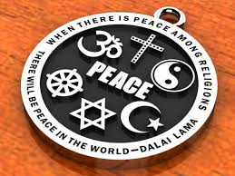 religious images interfaith peace pendant stainless steel 29 99 3 for handling on us orders