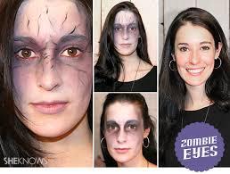 how to create zombie eyes sunken eyes makeup